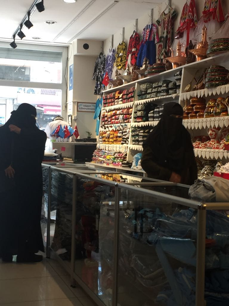Uyghur women in Zeytinburnu, the area where most Uyghurs in Istanbul congregate.