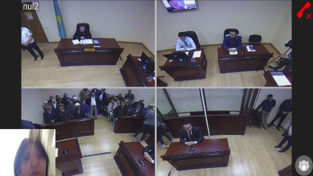 Images of the court hearing