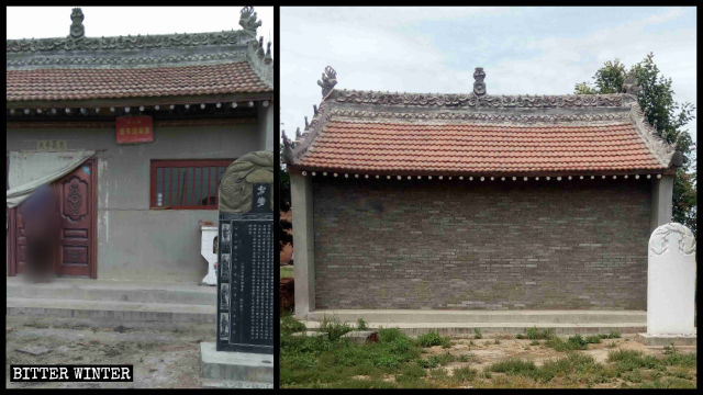 Laoye Temple in Muhua village has been sealed off
