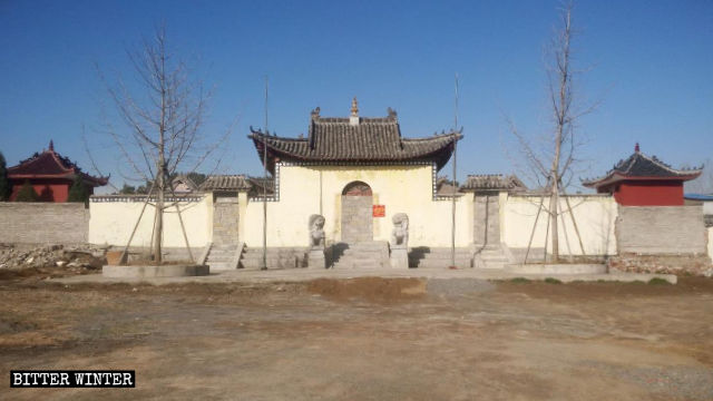Rongzhuang Temple has been sealed off