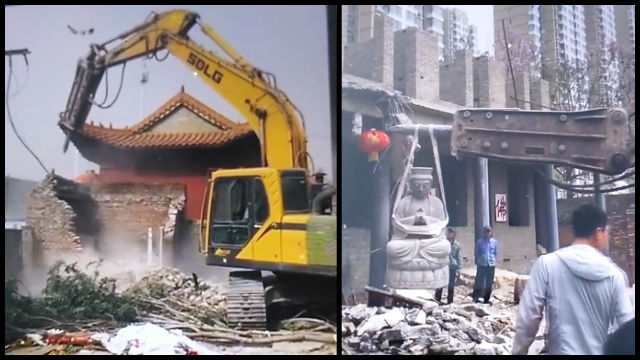 The ancient Zhantan Temple was demolished