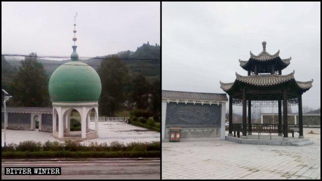 A dome-shaped building in Dongguan Muslim Square
