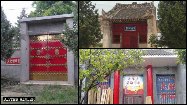 Temples in Fengming town have been converted into cultural activity centers and elderly activity centers.