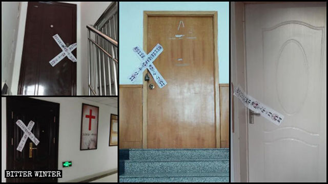 The meeting venues of True Love Church were sealed off and shut down