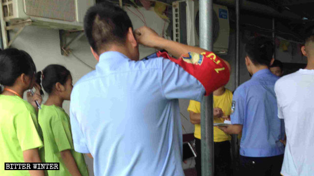 The officials raided a church's summer camp activities in Lushan city in Jiangxi Province.