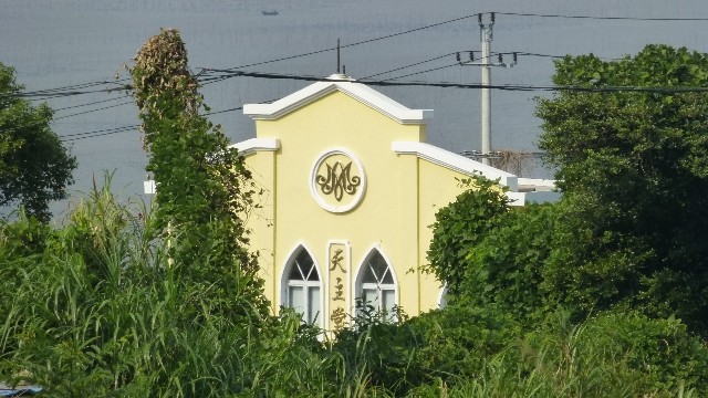 A Catholic church on the coastal road near Damen Shan (大门山) peninsula, Chixi town, Cangnan county, Zhejiang.