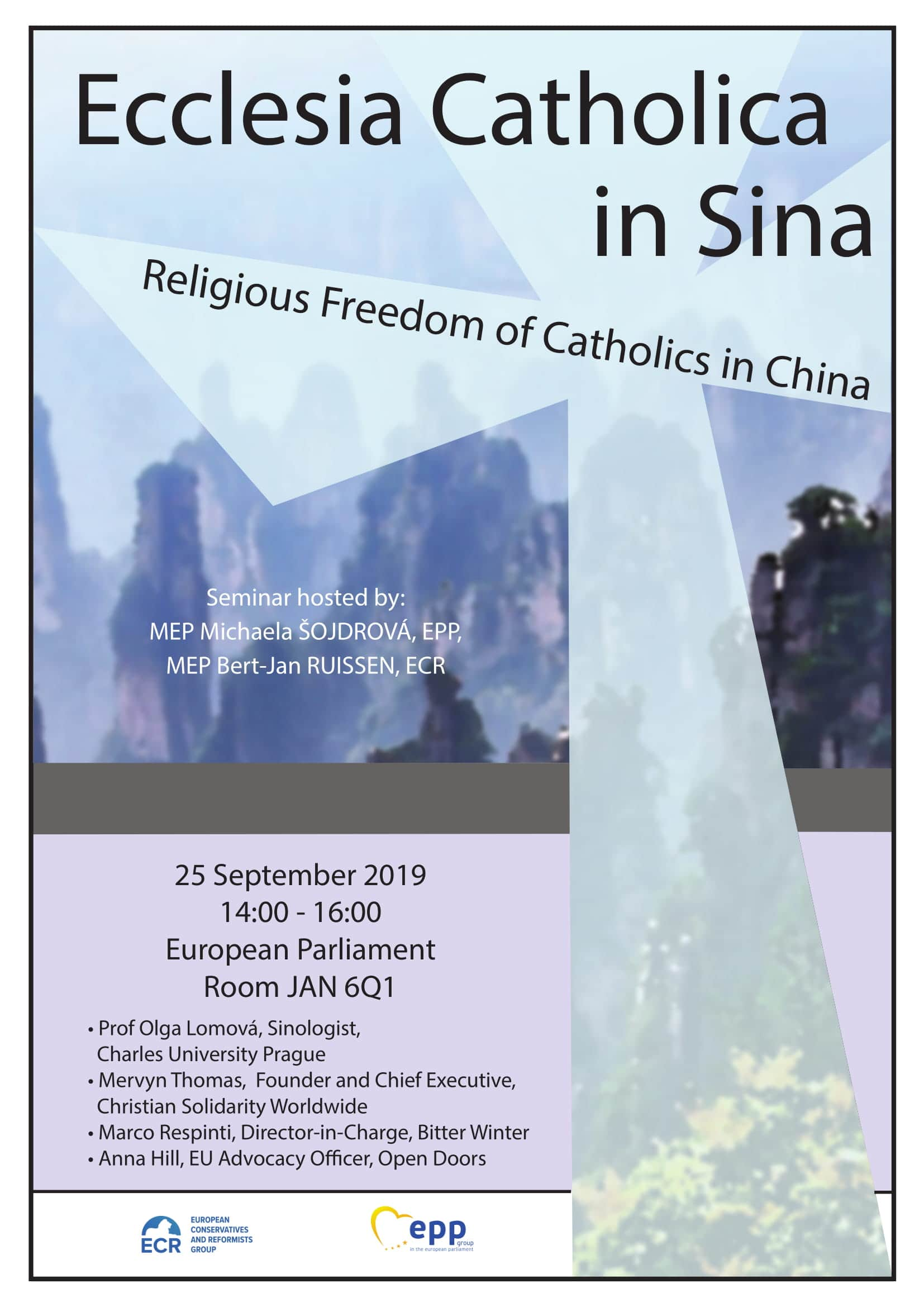 Ecclesia Catholica in Sina, Bruxelles, Sept. 25, 2019-1