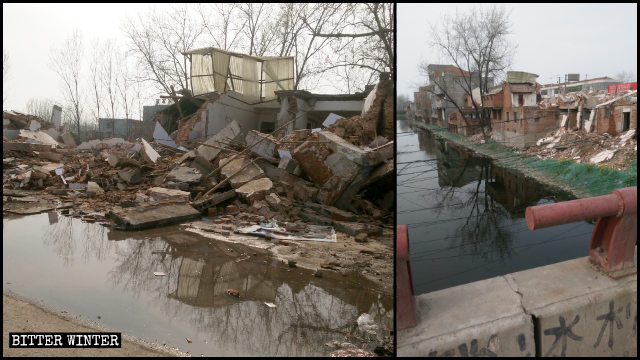 More than 300 houses and shops faced forced demolitions in Moling town under the jurisdiction of Xiangcheng city.