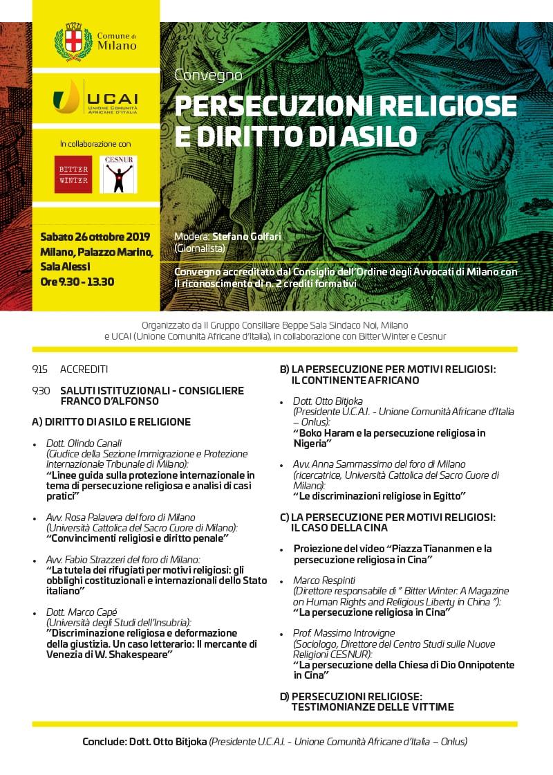 """Conference """"Persecuzioni religiose e diritto di asilo"""""""