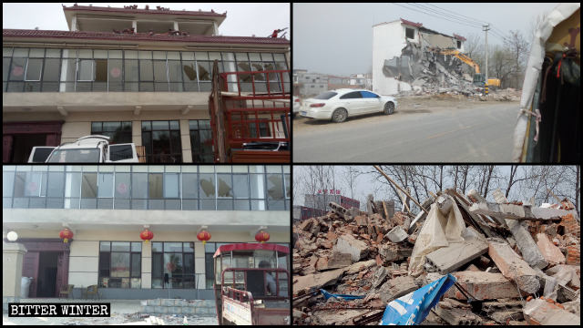A private house that cost of nearly one million RMB to build was demolished.