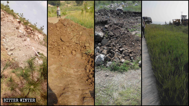 The shortcuts leading to the pilgrimage site were dug up and otherwise obstructed.