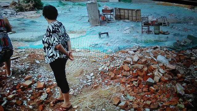 Houses of 57 households in Xiayuan village were turned into ruins.