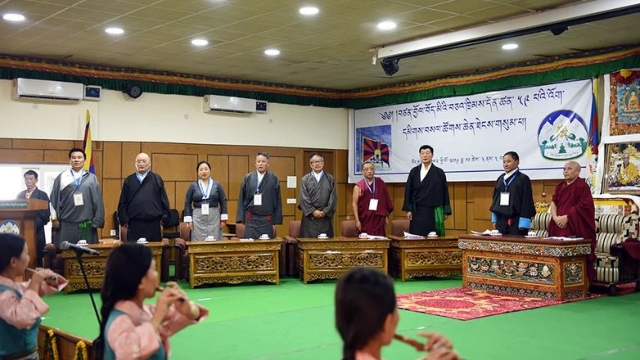 Opening ceremony of the 3rd Special General Meeting in Dharamshala. Courtesy of the Tibet Policy Institute.