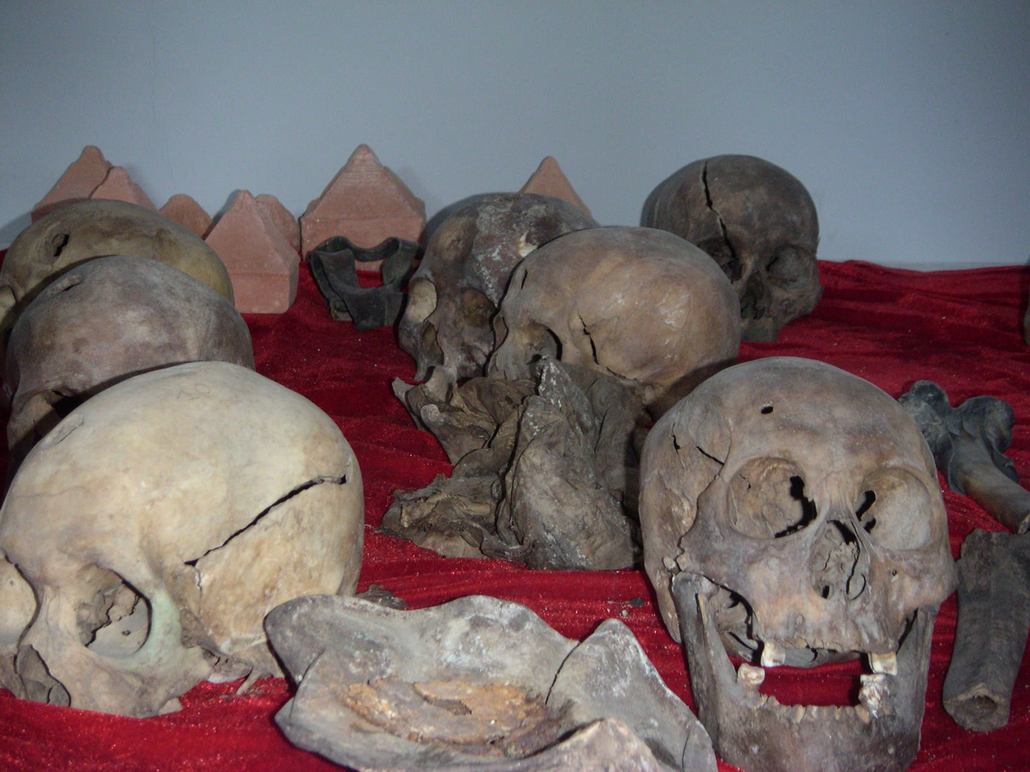 Bones of monks from mass graves at the (now closed) Victims of Political Persecution Memorial Museum in Ulaanbaatar