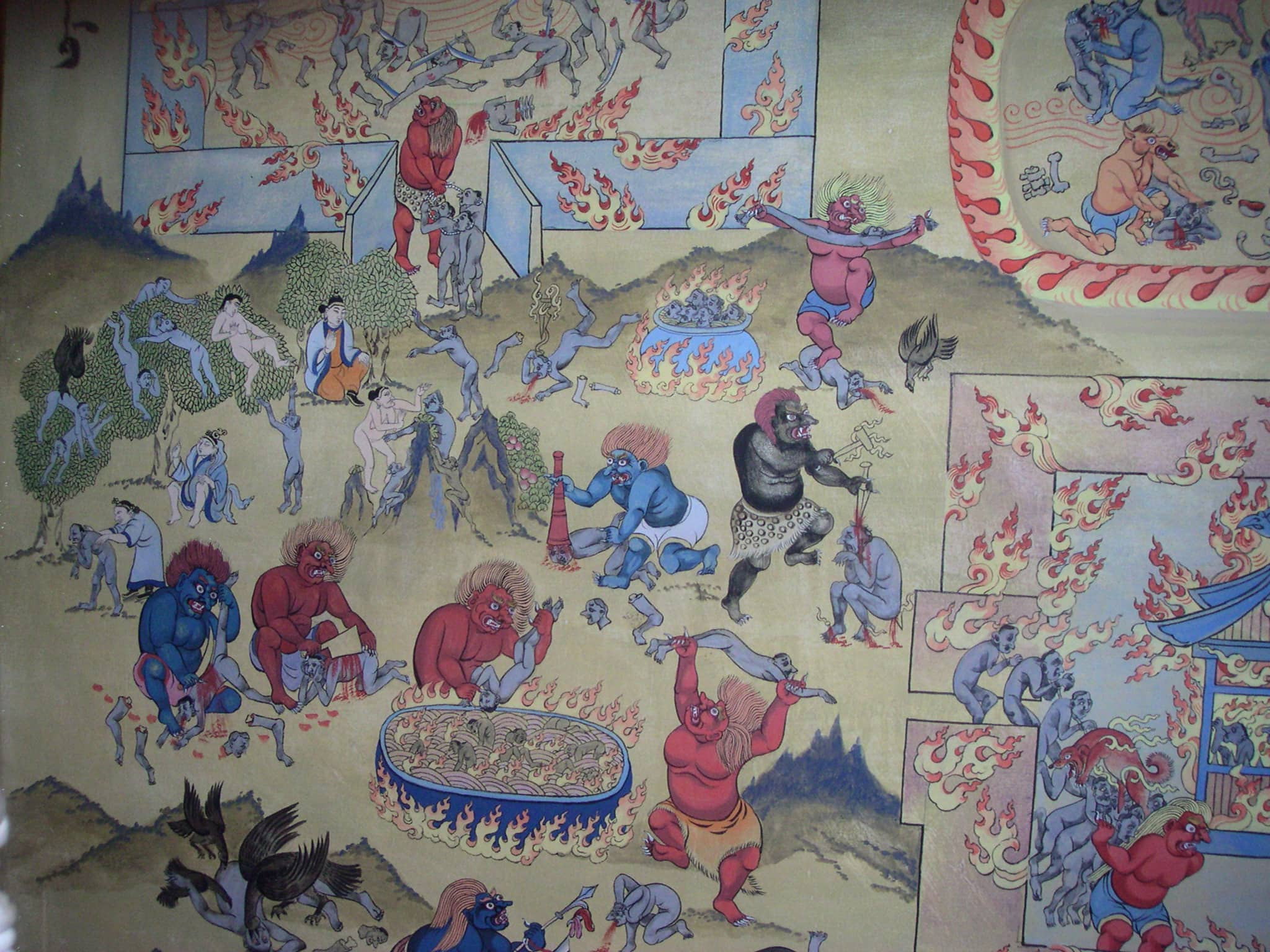 A Buddhist image of hell in the Gandan Monastery (all photos by Massimo Introvigne, except photo 6)