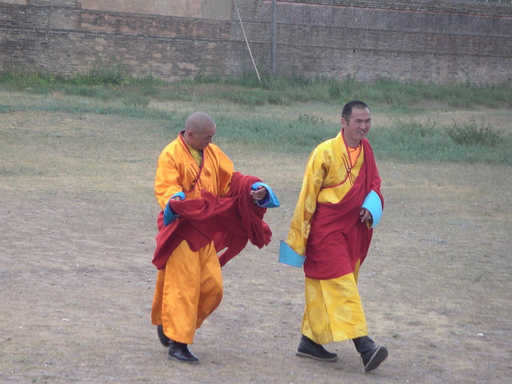Buddhist monks in Mongolia.