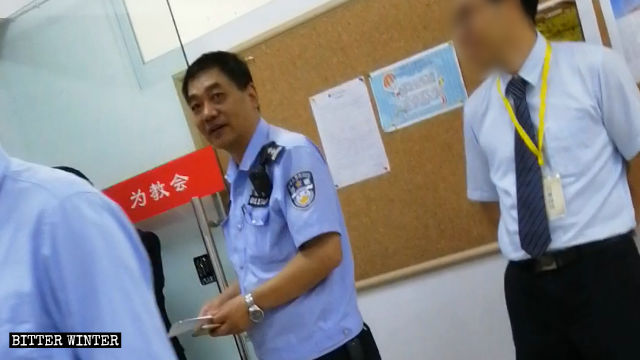 The police monitored and harassed Enfu Reformed Gospel Church in Chengdu city.