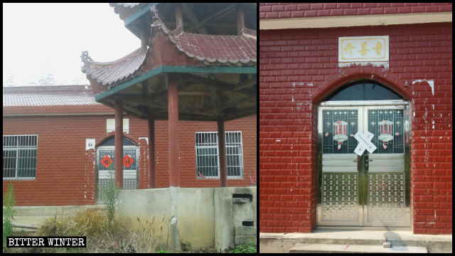 Kaishan Temple was sealed off the same day its elderly resident was moved to a nursing home.