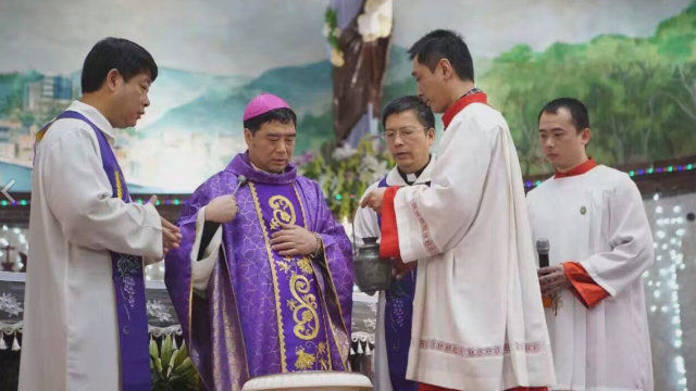 Msgr. Guo Xijin, the auxiliary bishop of the Diocese of Mindong. (UCAnews photo)