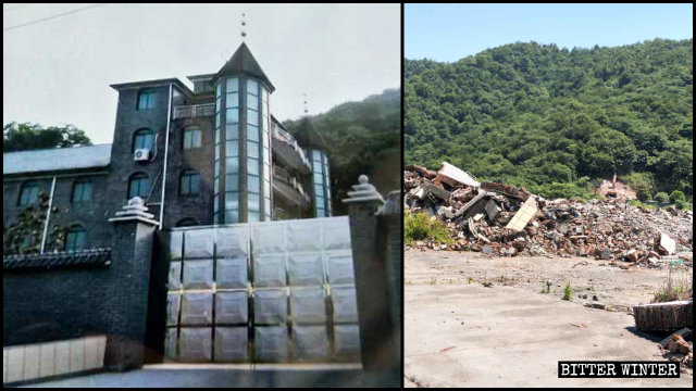 A Three-Self church in Hangzhou was demolished on May 12.