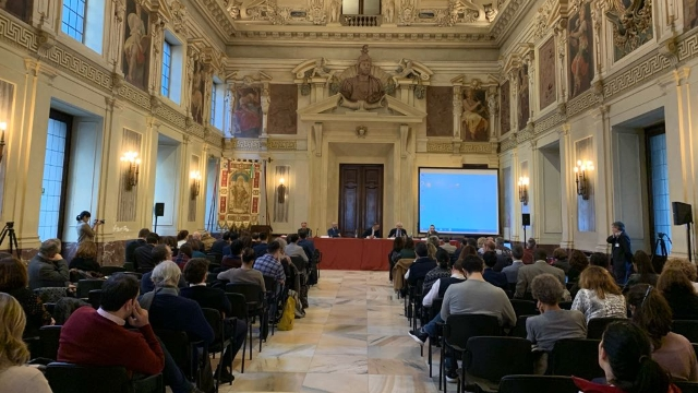 The conference in the Salone dell'Alessi