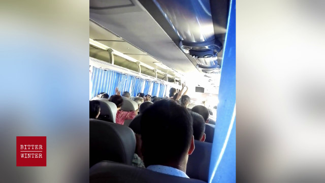 Believers are holding their gathering in secret on a bus