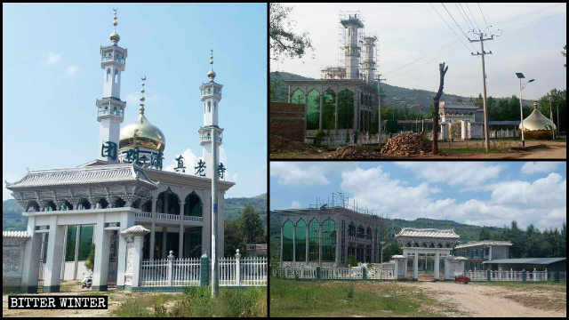 Islamic constructions atop Tuanju Old Mosque were demolished