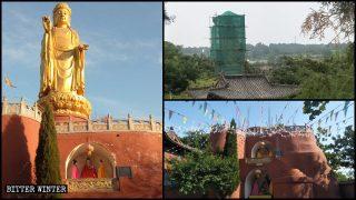 29-Meter-Tall Shakyamuni Buddha Sculpture Blown up in Jilin