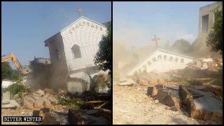 Two Three-Self Churches Demolished in a Fuzhou Village