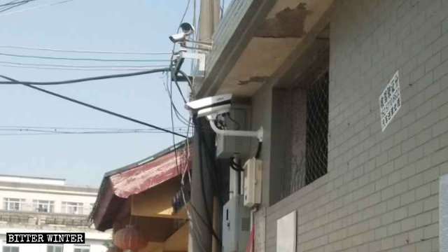 A surveillance camera with a facial recognition system was installed outside a temple, following the CCP's demands to have cameras in all official religious venues.