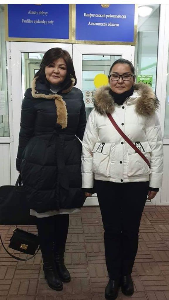Kaisha Akan with lawyer Ayman Umarova