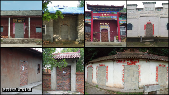 Many temples in Hubei Province have been completely sealed and blocked