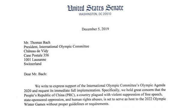Olympic Commttee letter featured