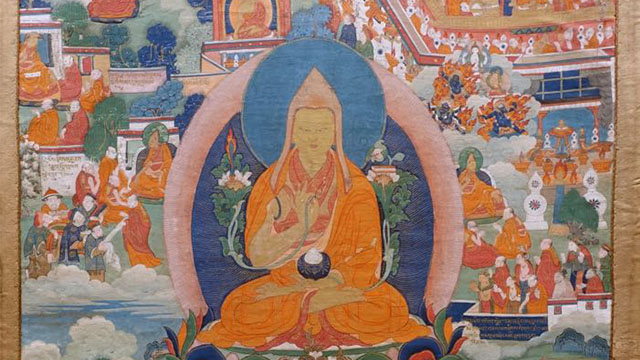 Thangka depicting Lama Tsongkhapa featured