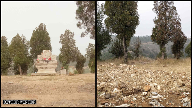 The altar on Mount Carmel was destroyed in late September.