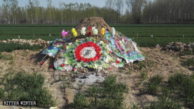 The tomb of the believer who died after being harassed by authorities.
