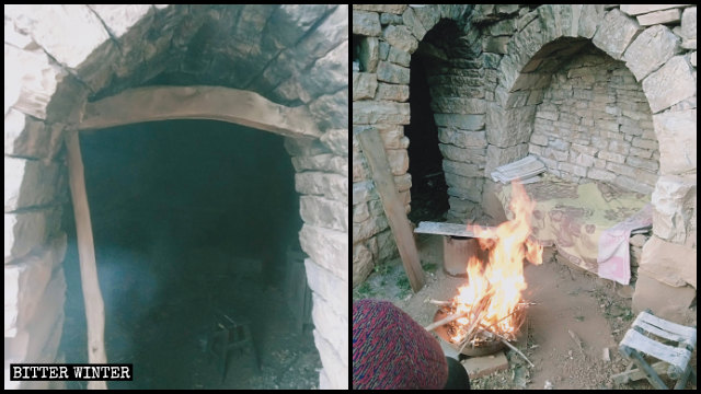 Believers are now forced to meet in a freezing cave house.