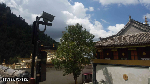 Surveillance cameras were also installed in the temple's courtyard.