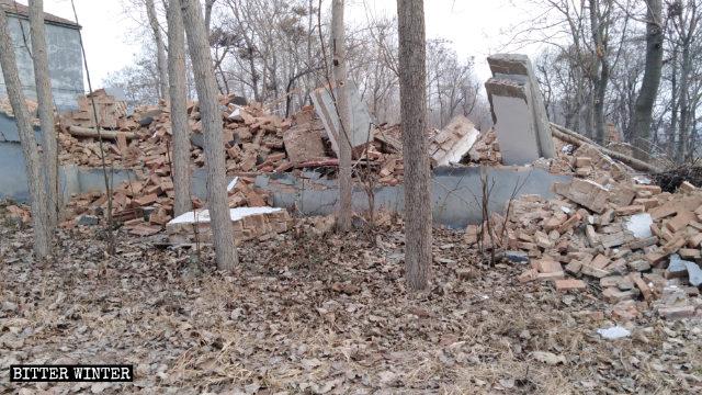 The Three-Self church meeting venue in Wangbukou village was demolished