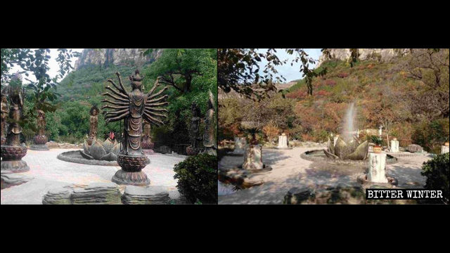 The eight Buddhist protectors of the 12 zodiac signs in the scenic area