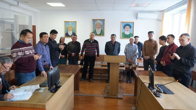 The hearing of Tilek Tabarak in Zharkent