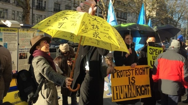 anti Chinese Communist Party protest in London