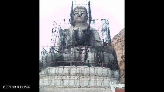 The statue of Shakyamuni in Baotou city in Inner Mongolia.