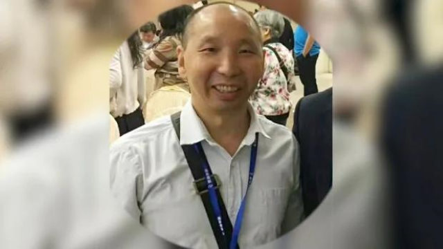 Pastor Li Wanhua was reprimanded for reposting photos and messages about Dr. Li Wenliang. (photo from RFA)