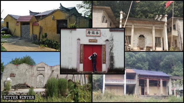 Temples have been sealed off across Hubei Province