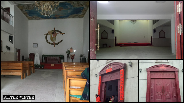 The Xiahuang village church was emptied.
