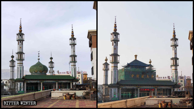 The Zhongjie Grand Mosque in Ningxia's Shizuishan city has been transformed into a Chinese-style building.
