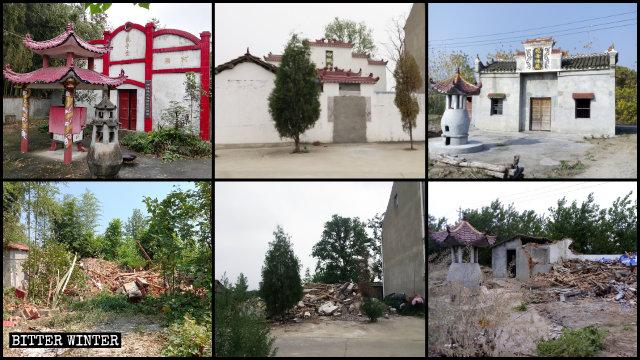 Multiple folk religion temples in Hubei were demolished last year.
