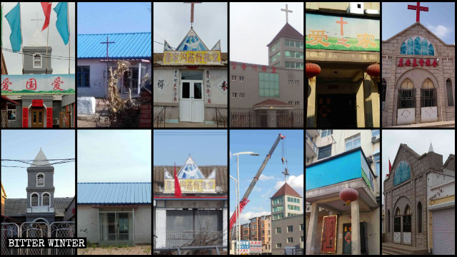 Crosses were taken down from churches throughout Liaoning