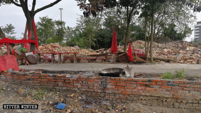 The Buddhist Puti Temple was demolished on October 18.